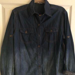 Tops - Faded ombré denim shirt